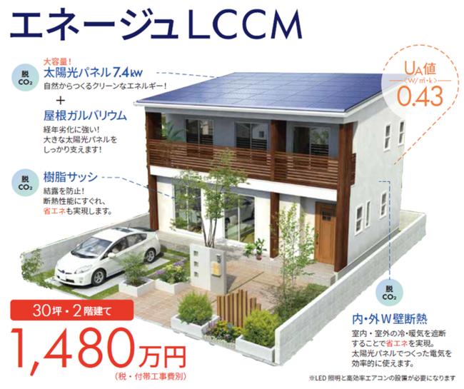 ローコストなLCCM注文住宅、1,480万円からー ヤマト住建