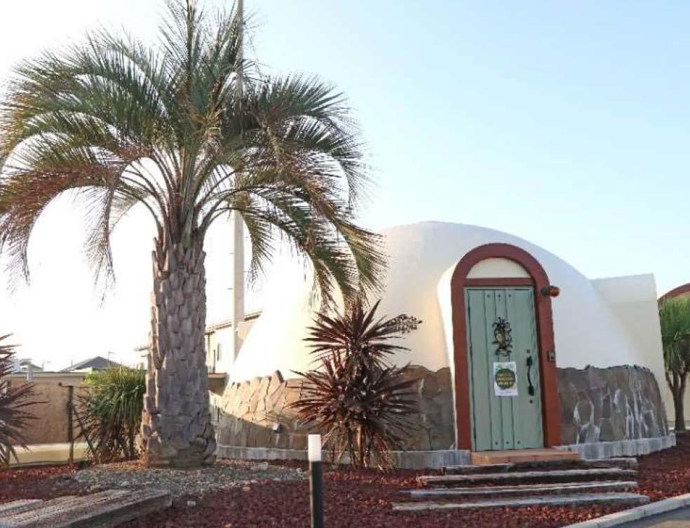 ドームハウスをワーケーション 施設として提案 ージャパンドームハウスの発泡スチロール構造を使用、アーキテクト