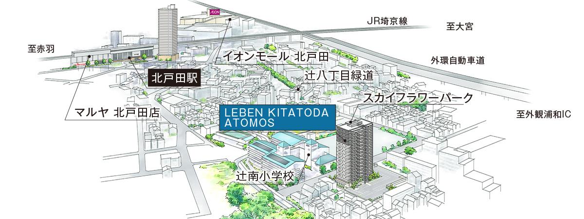 タカラレーベン、北戸田で新築マンション3棟―3市に分散、行政の競争力も売行き左右