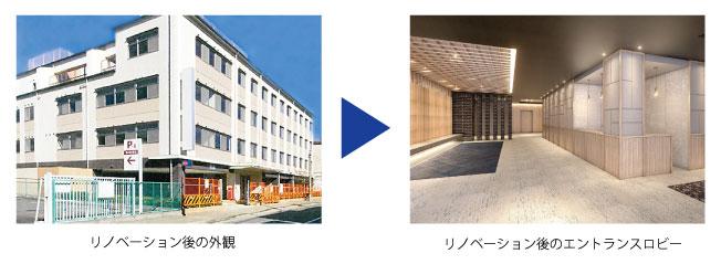 三菱地所レジデンス、病院を有料老人ホームに改修―京都で着工、動線やレイアウトなど近似