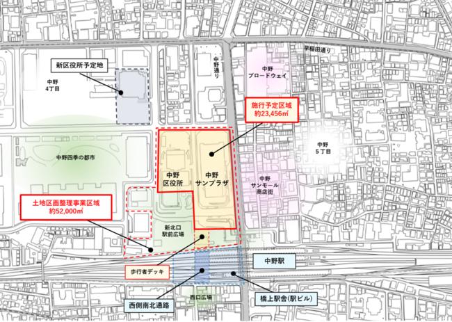野村不動産など5社、中野駅北口を再開発へ―サンプラザ再整備、シンボルタワーも
