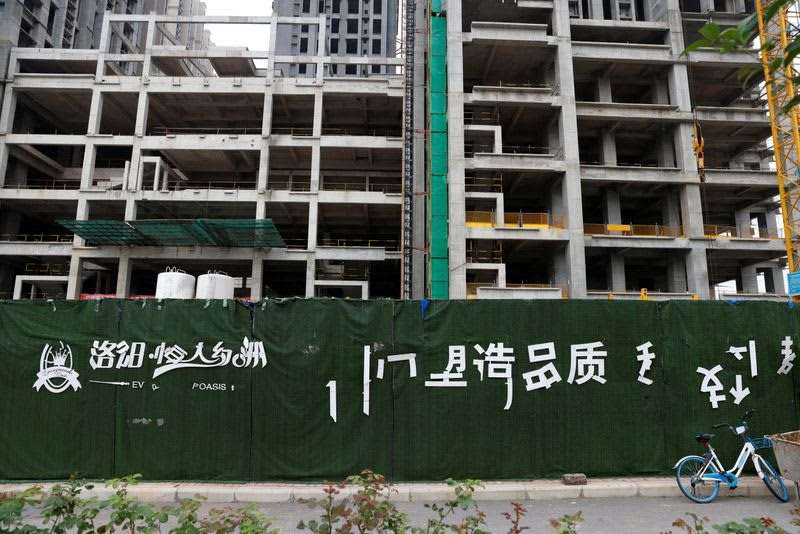 中国の金融機関、不動産開発業者への新規融資控える 恒大問題受け