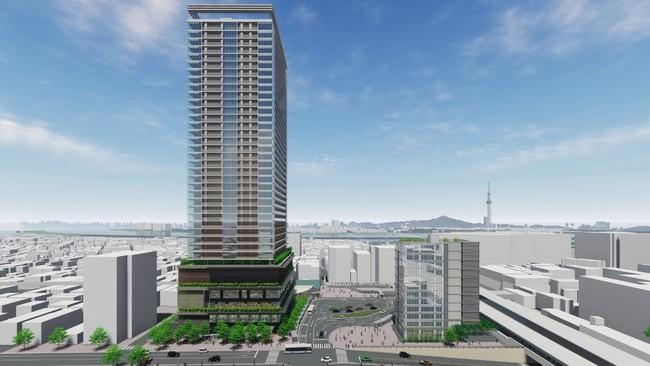 JR新小岩駅前の再開発推進―タワーマンション580戸、小岩駅前でも730戸計画 三井不動産レジデンシャル