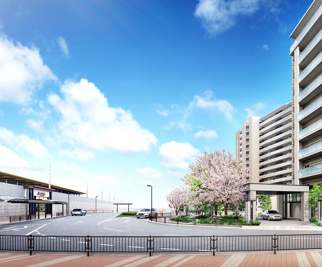 大京と関電不動産、100%再エネ電力の分譲マンション「ライオンズ茨木総持寺ステーショングラン」
